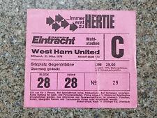 1976 - CUP WINNERS CUP SEMI FINAL TICKET - EINTRACHT FRANKFURT v WEST HAM UTD
