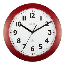 Acctim 74314 Parona Red Radio Controlled Wall Clock 23cm Diameter