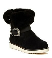 5c5e85993a22 New  310 AUSTRALIA LUXE  Yvent  Western Buckle Shearling Boots ...