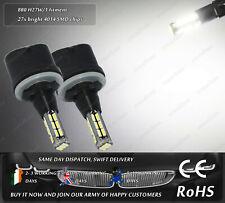 2x LED 880 H27W/1 4500k Xenon White Fog Daytime Running Lights DRL Bulbs Lamps