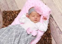 Theposhlayette Infant Newborn Baby Girl Coming Home Outfit Layette Gown & Band