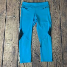ALALA Womens Small Captain Crop Turquoise Blue Yoga Workout Gym NEW Athleisure