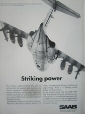 4/1971 PUB SAAB AIRCRAFT TWIN JET SAAB 105 SWEDISH AIR FORCE PARIS AIR SHOW AD