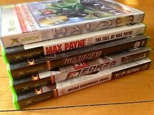 Lot of 5 XBOX Games HALO Max Payne GoldenEye Forza XBOX Live Online Enabled