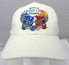 World Police & Fire Games Barcelona cap hat adjustable v choko