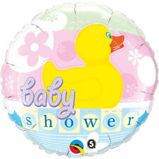 "BABY SHOWER BALLOON 18"" BABY SHOWER RUBBER DUCKIE QUALATEX FOIL BALLOON"