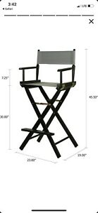 NEW! Casual Home 30-Inch Director Chair, Black Frame. New/open Boxed.