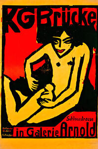 Exhibition Poster A1+ by Ernst Ludwig Kirchner Quality Canvas Print