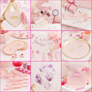 Girls Pamper Party Supplies Birthday Decorations Tableware Sleepover Spa Party