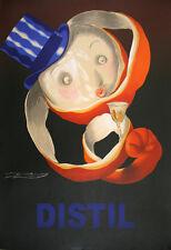 Original Mauzan Poster Distil Orange Peel 1995 French Liquor