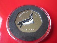 2017 Falkland Island Magellanic Penguin 50p Coin Coloured BUNC Sealed NEW