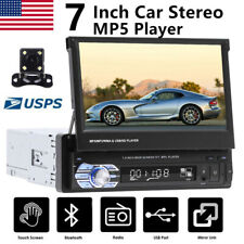 "7"" Car Stereo Radio Touch Screen Single 1Din AUX Bluetooth MP5 Player + Camera"
