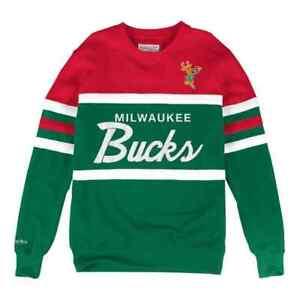 Milwaukee Bucks Mitchell & Ness  Men's NBA Head Coach Crew Sweatshirt