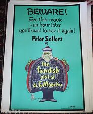1980 rolled Marquee Movie Poster Fiendish Stop of Dr. Fu Manchu Peter Sellers