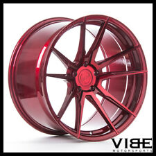 """20"""" ROHANA RFX2 RED FORGED CONCAVE WHEELS RIMS FITS TOYOTA CAMRY"""