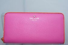 New Kate Spade Lacey Cobble Hill Wallet Pink Zip Clutch Bag Brpapy Leather