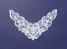 White Lace Yoke Applique - SL4