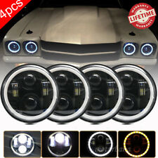 "4x 5.75"" 5-3/4 H5001 H5006 LED Halo DRL Projector Headlight For Chevy Corvette"