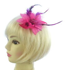 pink clip hair fascinator for weddings,prom