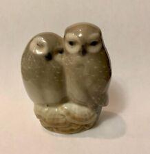 Royal Copenhagen Porcelain Owl Couple Figurine #834 Denmark (See Details)