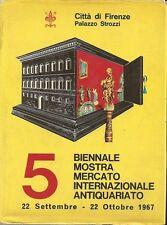 ARTE_ 5 BIENNALE MOSTRA MERCATO INTERNAZIONALE ANTIQUARIATO _ 1967 Firenze _STEB