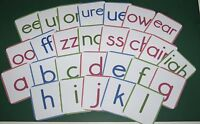 PHONEMES - PHONETIC ALPHABET - 53 CARDS  ALL LETTERS/SOUNDS OF PHONICS - EYFS