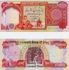Iraqi Dinar Note/Currency Collection 25K Total Dinar Uncirculated