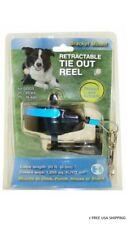 Howard Pet Retractable Blue Metal Tie Out Reel Medium   8426