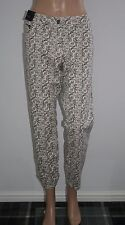 Next Petite Womens Cream Floral Print Stretch Cotton Skinny Jeans Size 18 New