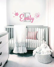 Custom Name Personalised Sticker Nursery Girls Wall Decal Baby Art Bedroom