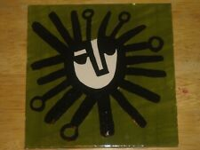 """6"""" hand painted  ceramic tile modern abstract art design accent tile #2"""