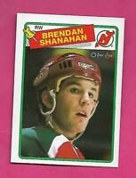 1988-89 OPC  # 122 DEVILS BRENDAN SHANAHAN  ROOKIE NRMT-MT  CARD (INV# D0876)