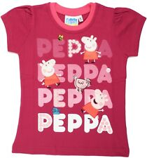 Peppa Pig Girls Short Sleeves T Shirt Age 2 to 6 Years