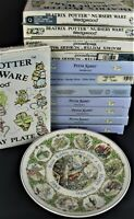 "Wedgwood Beatrix Potter Nursery Ware Birthday Christmas Year Plates Vintage 8"""