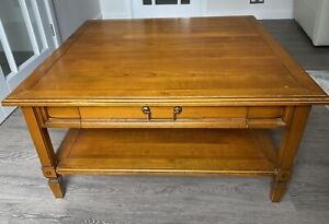 Beautiful Solid Wood 2 Drawer Coffee Table With Shelf Made by Selva Of Italy