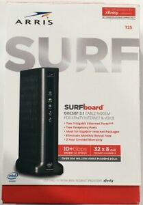ARRIS SURFBOARD T25 DOCSIS 3.1 CABLE MODEM FOR XFINITY INTERNET & VOICE NEW