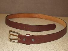 Vintage DICKIES Brown Leather Jeans Ranch Belt Size 40 Made in the USA