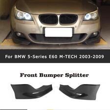 2x Carbon Front Splitter Flaps Ansatz Für BMW 5er E60 M-Paket Stoßstangen 03-09