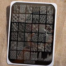Geometric patterns Nail disk Nail Art image plate Stamping Template Stripe OS04