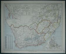 1883 LETTS MAP ~ SOUTH AFRICA CAPE TOWN ENVIRONS NATAL BASUTO LAND