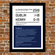 DUBLIN GAA FOOTBALL - ALL IRELAND 2019 - FRAMED PRINT PICTURE POSTER.