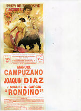 Tauromaquia Cartel Plaza Toros Sevilla año 1991 (CD-915)