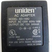 Uniden AC Adapter Model AD-140U Power Supply