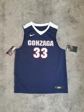 Youth's Nike NCAA Gonzaga Bulldogs Replica Basketball Jersey Navy sz LARGE