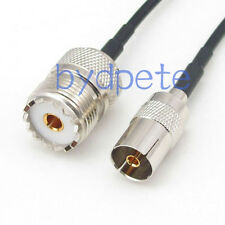 TV female to UHF female SO239 SO-239 Antenna PAL Coaxial Cable 8inch 20cm RG174