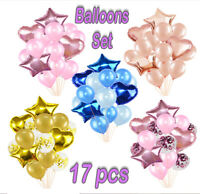 17pcs/set Wedding Birthday Balloons Set Latex Foil Kit Kids Boy Girl Baby Party