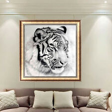 DIY 5D Tiger Diamond Painting Cross Stitch Rhinestone Embroidery Home Decor