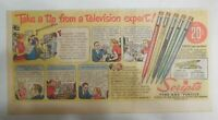 Scripto Pens & Pencils Ad: Tip From TV Expert from 1940's Size: 7 x 15 in