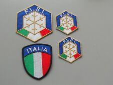 PATCH FISI  ORO E SCUDETTO ITALIA PZ 4  RICAMATE TERMOADESIVE-REPLICA