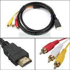 CABLE DE AUDIO/VIDEO HDMI MACHO/MALE A/TO 3 RCA MACHO/MALE 3 M. DE GRAN CALIDAD